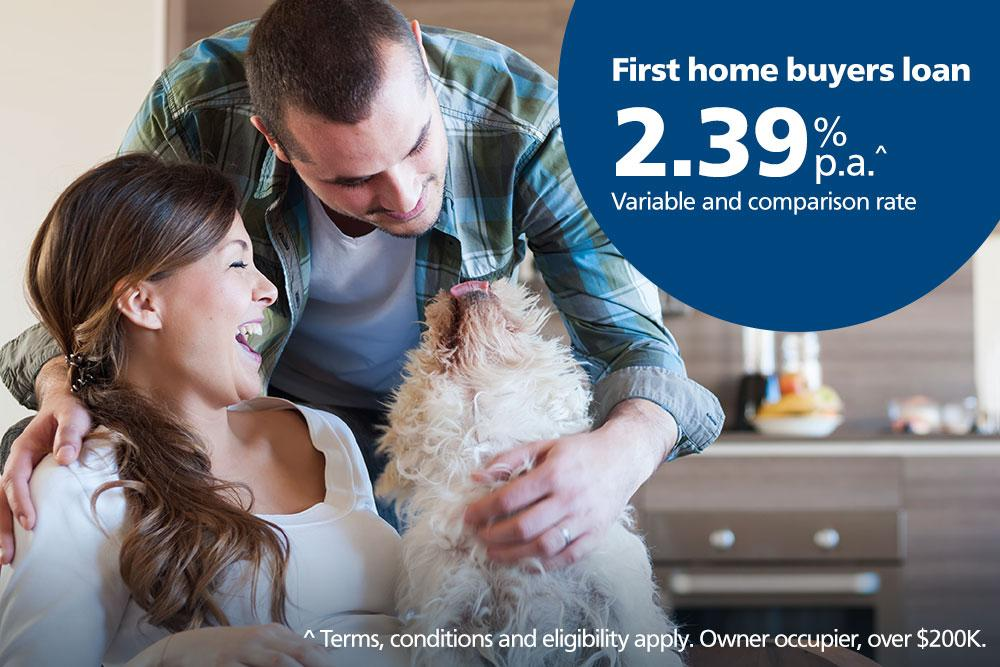 First home buyers rate from 2.39%