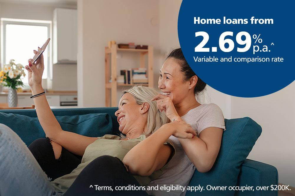 Home loan from 2.69%